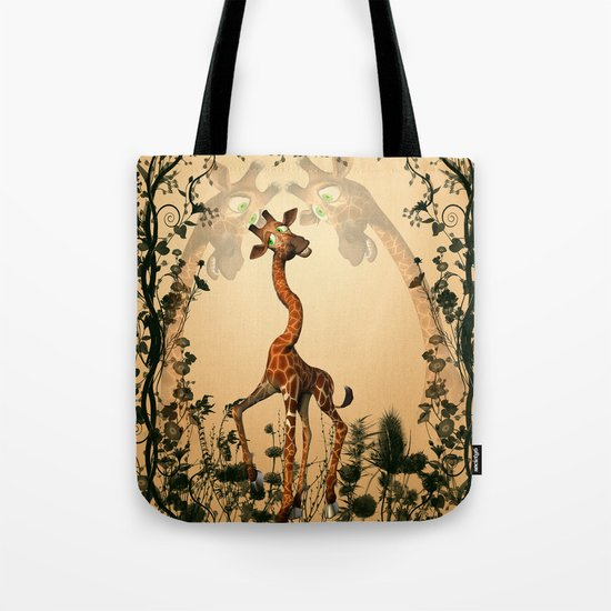 Funny giraffe  Tote Bag