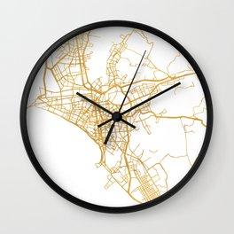 LIMA PERU CITY STREET MAP ART Wall Clock