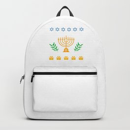 Hanukkah Ugly Shirt Hanukkah Jewish Festival Gift Backpack