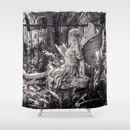 Angel Garden Sculpture Shower Curtain