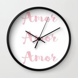 Amor Amor Amor Wall Clock
