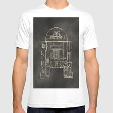R2D2 Mens Fitted Tee MEDIUM White