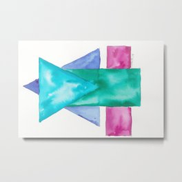 180819 Geometrical Watercolour 4| Colorful Abstract | Modern Watercolor Art Metal Print