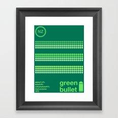green bullet single hop Framed Art Print