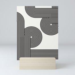 Black and White Arches - decoration, minimalist, rustic, y2k, aesthetic, nursery, grunge, nordic, co Mini Art Print