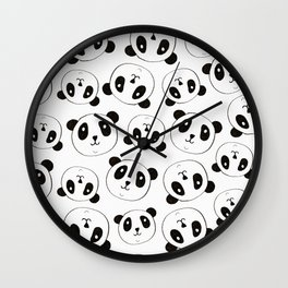 Panda Pattern Wall Clock