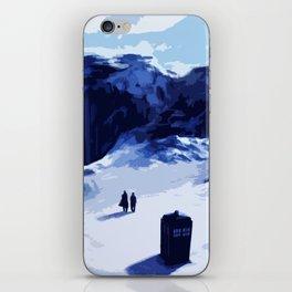 Tardis Art At The Snow Mountain iPhone Skin