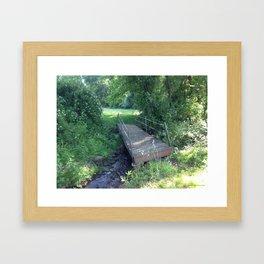 The Bridges We Cross Framed Art Print