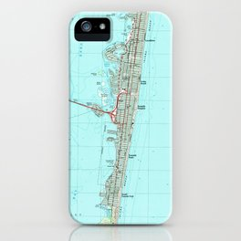 Seaside Park & NJ Shore Map (1989) iPhone Case