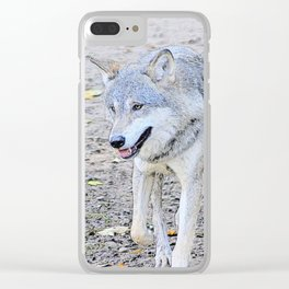Sketchy Wolf 31801 Clear iPhone Case