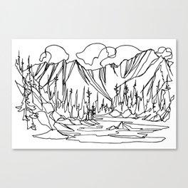 Ice Creek Lake, Valhallas :: Single Line Canvas Print