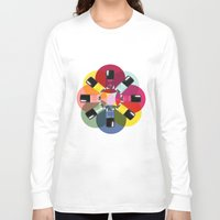 nail polish Long Sleeve T-shirts featuring Designer Nail Polish Print by BeckiBoos