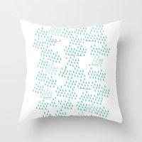 ski Throw Pillows featuring Ski Run by finka