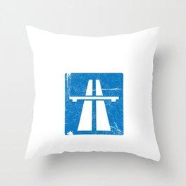I Survived German Autobahn Truck Speeder Throw Pillow