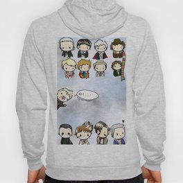 Kawaii Doctors (1 to 12 and War) Doctor Who Hoody