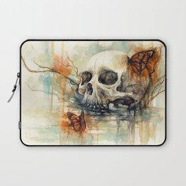 watercolor skull Laptop Sleeve