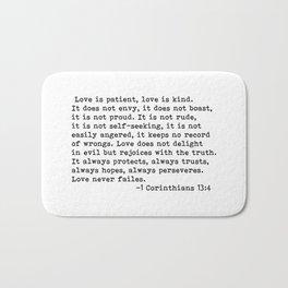 Love is patient... Bath Mat