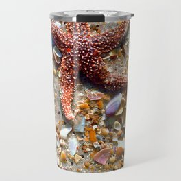 Washed up Beautiful Red Starfish Photo Art Travel Mug