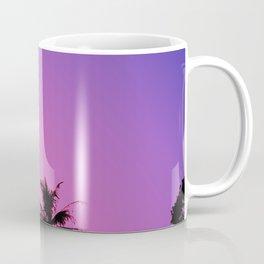Tropical palm trees with purplish gradient Coffee Mug