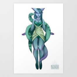 Sorceress and her familiar Art Print