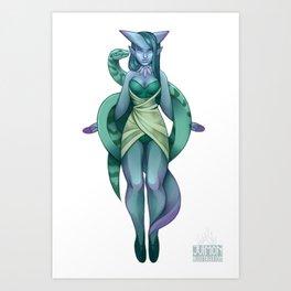 Sorceress and her familiar Art Print