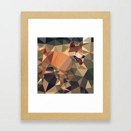 Triangular shiba inu Framed Art Print