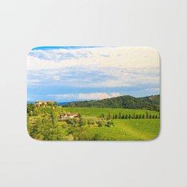 The beautiful vineyard of Collio, Friuli Venezia-Giulia, Italy Bath Mat