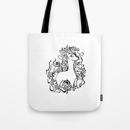 Wooly Lineart Tote Bag