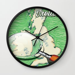 Ireland vintage Style travel poster Wall Clock