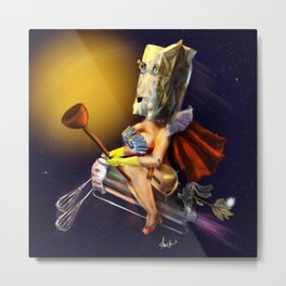 The  Unknown Super Wife Metal Print