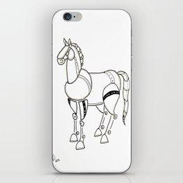 Metal horse iPhone Skin