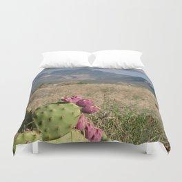 Where Desert Meets Mountains Duvet Cover