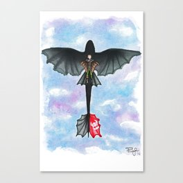 Hiccup and Toothless Flying from How to Train your Dragon 2 Canvas Print