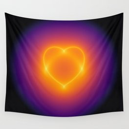 heart curve Wall Tapestry