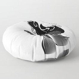 Mermaid Black Floor Pillow