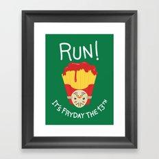 Bloody Fryday! Framed Art Print