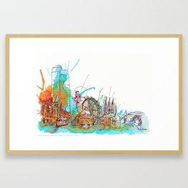 Colours of Melbourne Landscape Framed Art Print