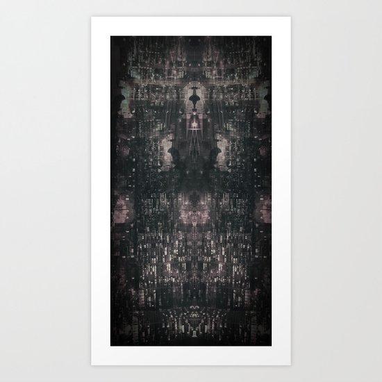 city chandelier Art Print