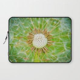 Closeup shot of a dandelion blowing seeds blowing away Laptop Sleeve