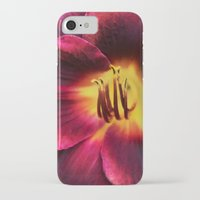 burgundy iPhone & iPod Cases featuring Burgundy Satin by hewnly