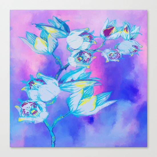 Blue flower abstract Canvas Print