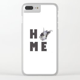"""West Virginia """"HOME"""" Clear iPhone Case"""