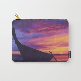 Longtail Thai boat on the beach Carry-All Pouch