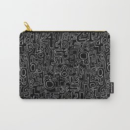 Sketched Numbers Carry-All Pouch
