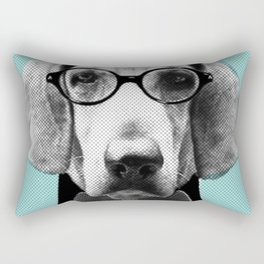 Mr Italian Bloodhound the Hipster Rectangular Pillow