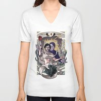 will graham V-neck T-shirts featuring Designing Will Graham by tumblebuggie