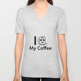 I Love My Coffee Unisex V-Neck