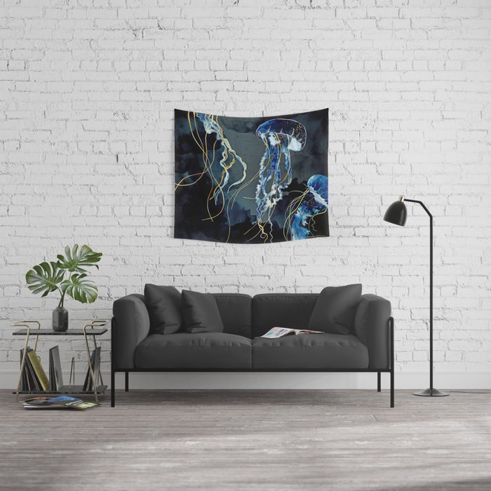 Metallic Ocean III Wall Tapestry