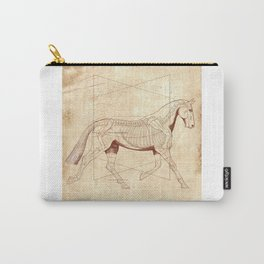 Da Vinci Horse: The Trot Revealed Carry-All Pouch