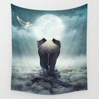 giants Wall Tapestries featuring Guide You Through the Darkness by soaring anchor designs